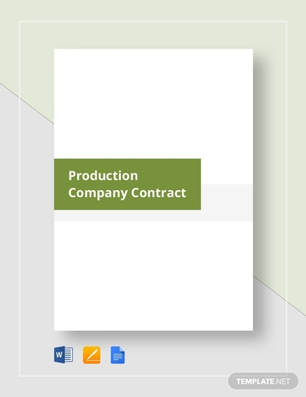 production company contract template