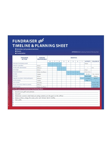 professional fundraising timeline