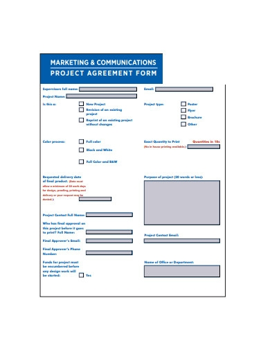 project agreement form template