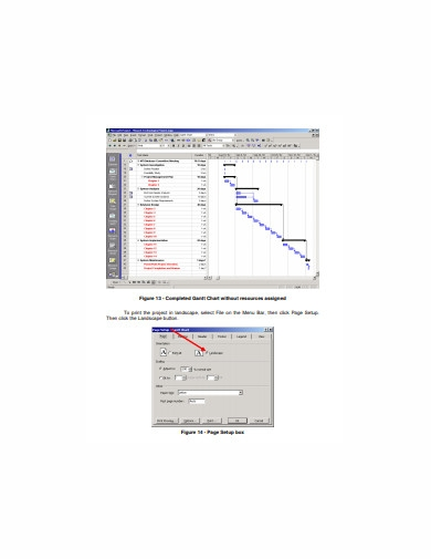 project creation gantt chart