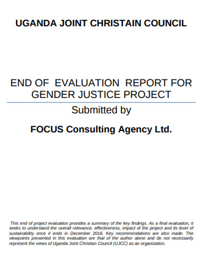 project evaluation report in pdf