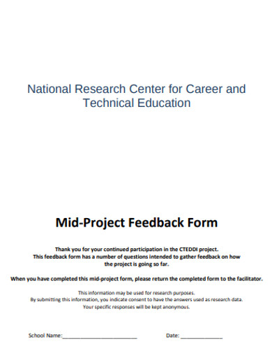 project feedback template
