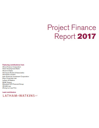 project financial report presantation