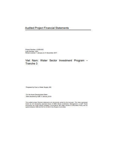 project financial statement report example
