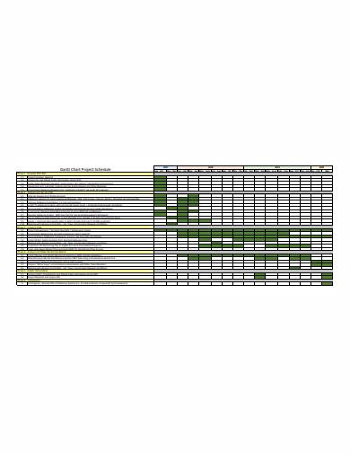 project gantt chart schedule