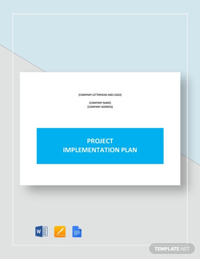 project implementation plan templates