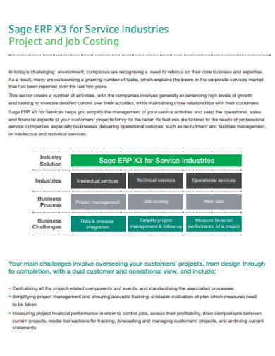 project job costing
