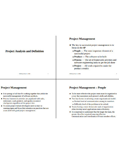 project managment analysis example