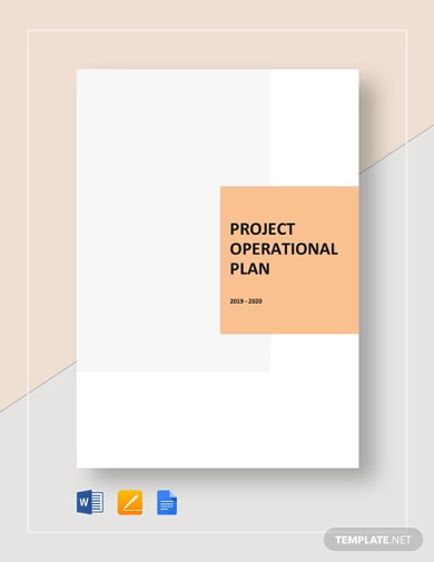 project operational plan templates