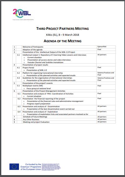 project partners meeting agenda