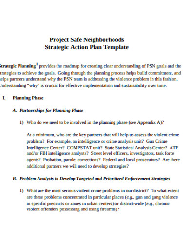 project report action plan template