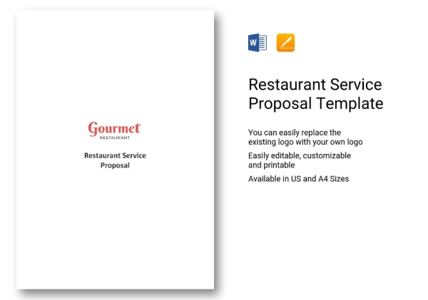 proposal for restaurant service