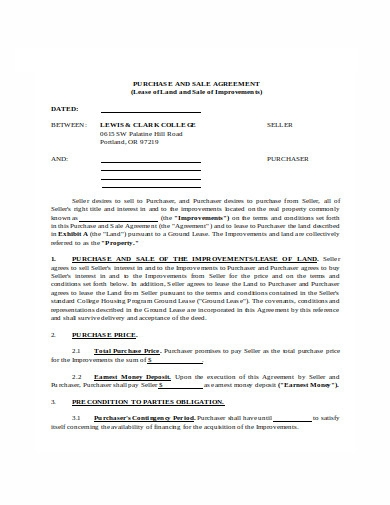 purchase and sale agreement in doc