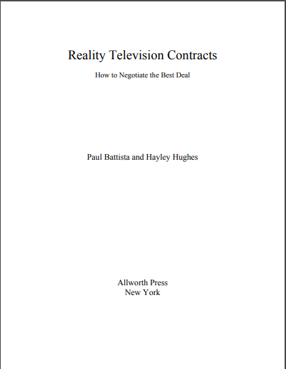 reality television contract