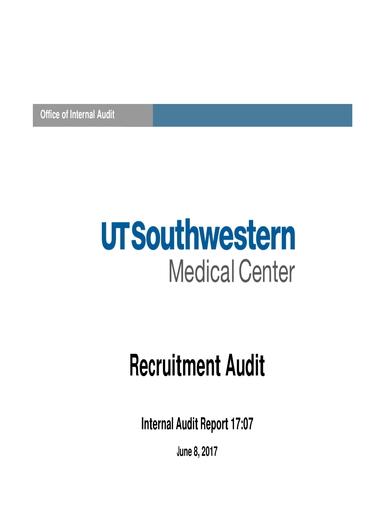 recruitment hr audit report