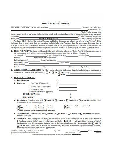 regional sales contract