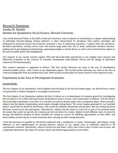 FREE 22+ Research Statement Examples in PDF | DOC | Examples