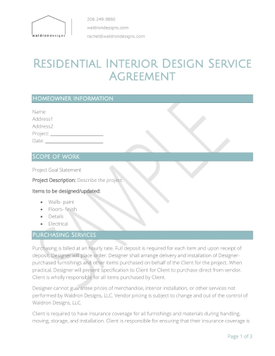 10 Interior Designer Contract Examples In Google Docs Ms Word Pages Pdf Examples