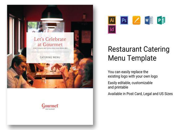 restaurant catering menu template