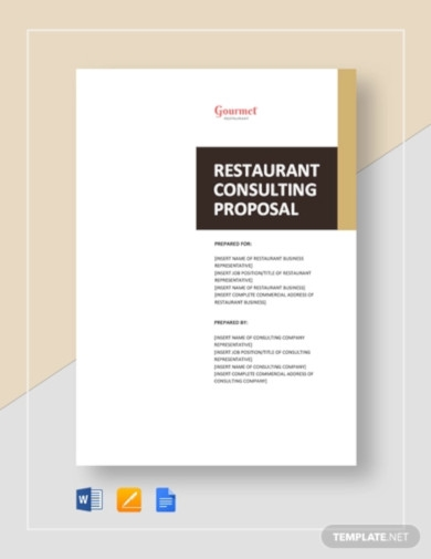 restaurant consulting proposal template