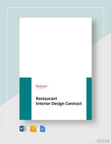 restaurant interior design contract