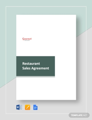 restaurant sales agreement template