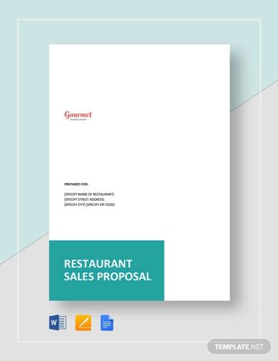 restaurant sales proposal template