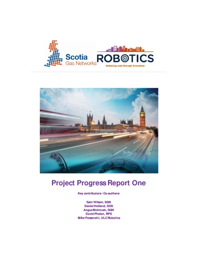 robotics project progress report