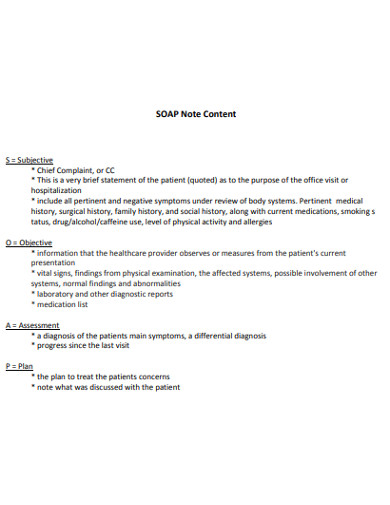 19+ SOAP Note Examples - PDF | Examples