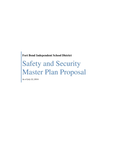 safety and security master plan proposal