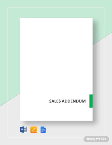 sales addendum templates
