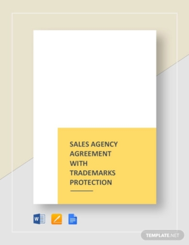 sales agency agreement with trademarks protection template1