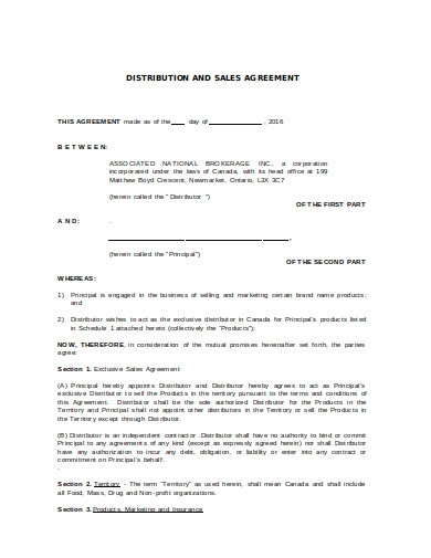 sales agreement example in doc