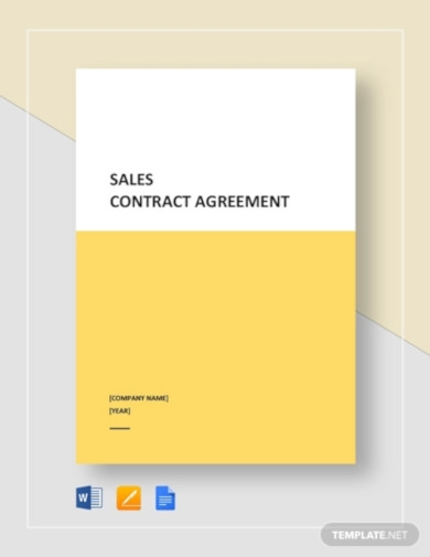 sales contract agreement template