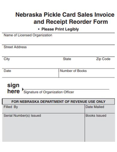 sales invoice reorder form