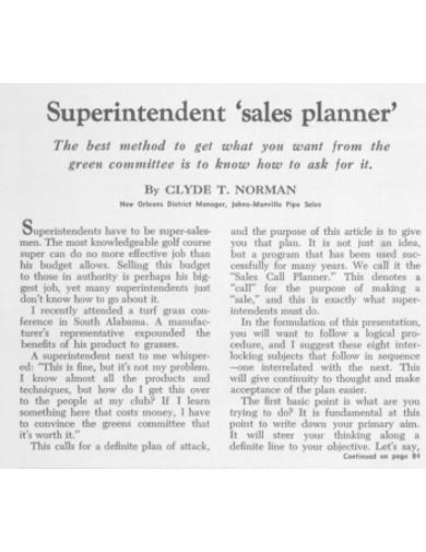 sales planner format