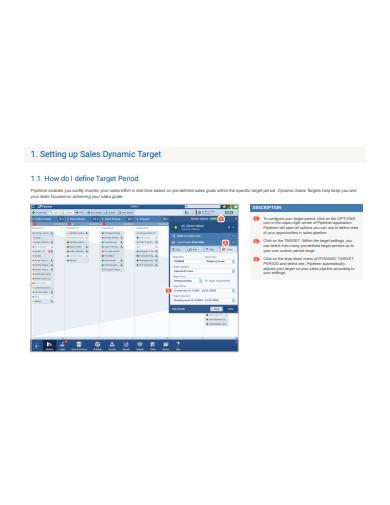 sales target tracking