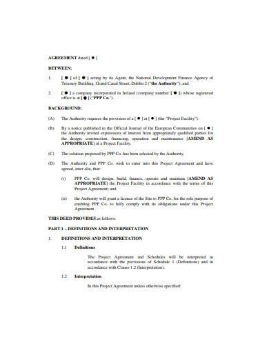 sample project agreement template