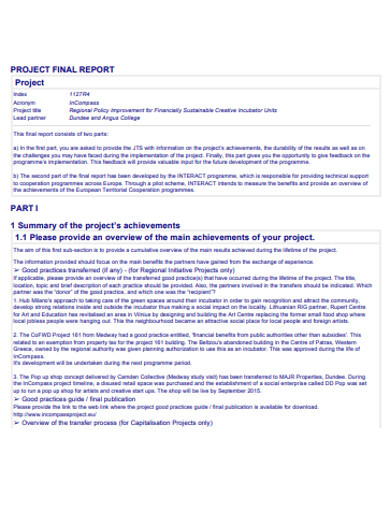 sample project final report