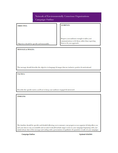 sample project outline template