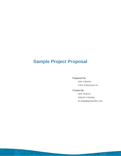 sample project services proposal