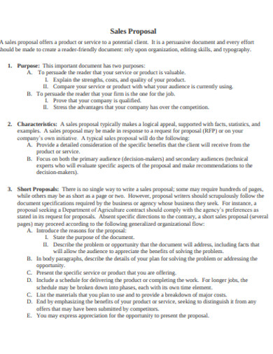 sample sales proposal