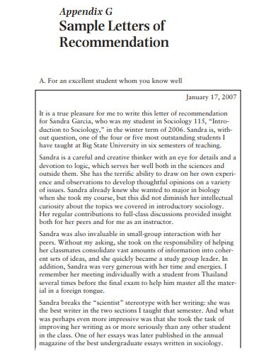 sample letter for recommendation in pdf