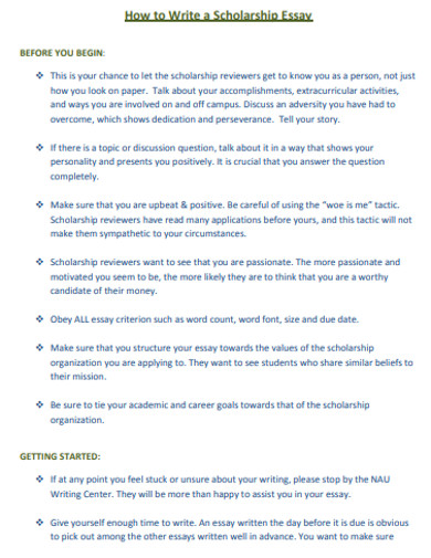 scholarship essay in pdf