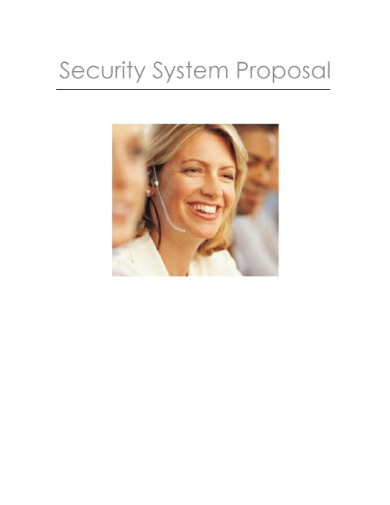security system proposal