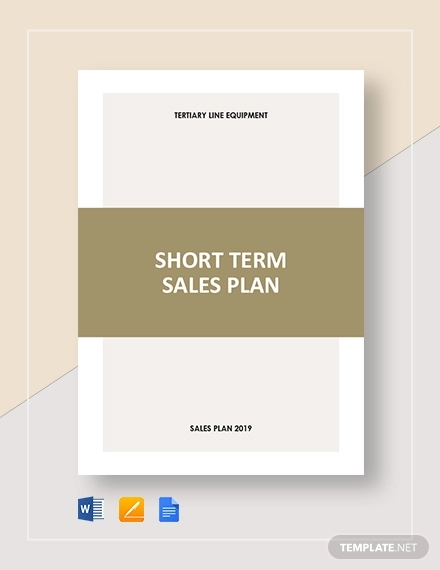 short term sales plan template