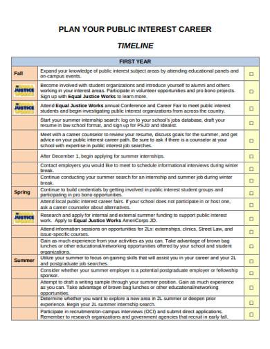 simple career timeline