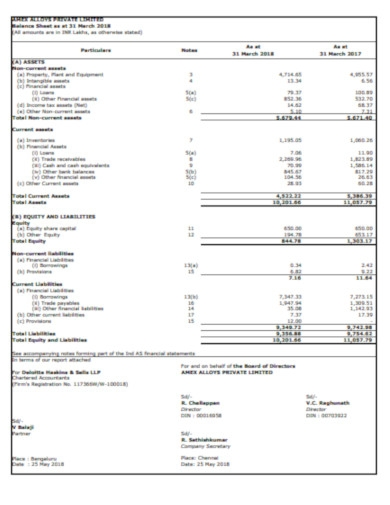 simple company balance sheet