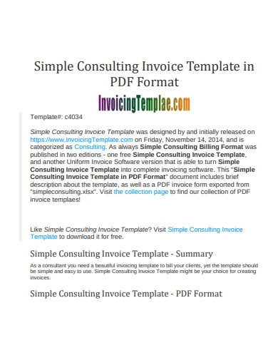 simple consulting invoice