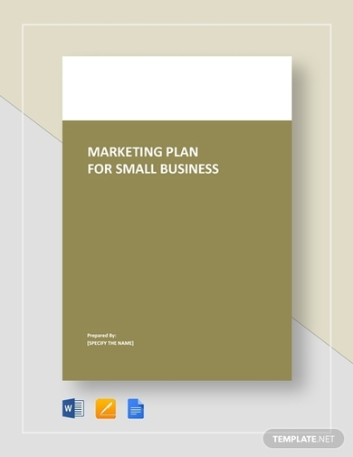 simple marketing plan template for small business